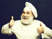 Cuisinier barbu heureux photographie stock