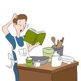 Cuisinier confus Photographie stock libre de droits