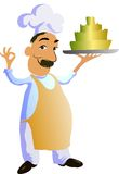 Cuisinier de bande dessinée Images stock