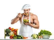 Cuisinier de Bodybuilder photographie stock libre de droits