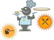 cuisinier de café Illustration Stock