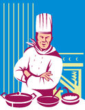 Cuisinier de chef faisant cuire un repas Photo libre de droits