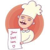 cuisinier de dessin animé illustration libre de droits