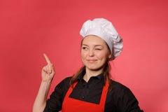 Cuisinier de jeunes de beauté photos stock