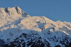 Cuisinier de montagne de chute de neige Images stock