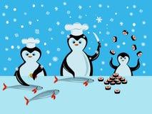 Cuisinier de pingouin Images libres de droits