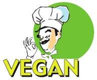 Cuisinier de vegan de SÉRIE du TRAVAIL Images libres de droits