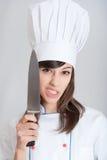 Cuisinier effrayant Photographie stock libre de droits