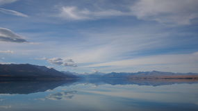 Cuisinier et lac Pukaki de support Image libre de droits