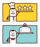 Cuisinier et service illustration de vecteur