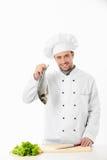 Cuisinier heureux image stock