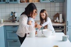 Cuisinier heureux de famille ensemble dans la cuisine Images libres de droits