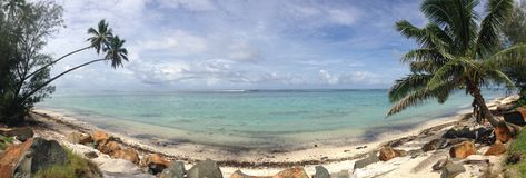 Cuisinier Islands, panorama de Rarotonga Image libre de droits