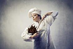 Cuisinier malpropre photos stock
