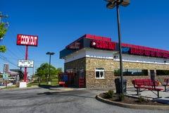 Cuisinier Out Restaurant à Richmond, VA photo libre de droits
