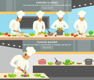 Cuisinier Profession Banners Set Photo stock