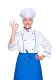 Cuisinier réussi dans l'uniforme photos libres de droits