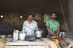 Cuisinier rural indien Photos stock