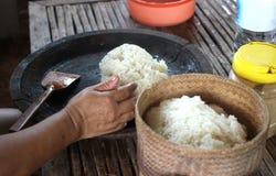 Cuisinier Sticky Rice Photo stock