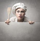 Cuisinier stupéfait Image stock