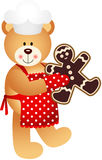 Cuisinier Teddy Bear Christmas Cookies Man illustration libre de droits
