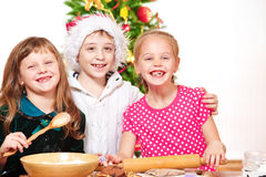 Cuisiniers de Noël Image libre de droits