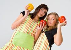 Cuisiniers de paprika Images stock
