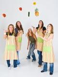 Cuisiniers heureux Images stock