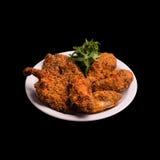 Cuisse de poulet frit photo stock