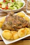 Cuisse de rôti d'agneau Image stock