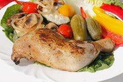 Cuisse grillée de poulet Photographie stock