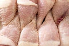 Cuisses crues de poulet Images stock
