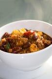 Cuisson à la vapeur de chili con carne chaud Photos stock