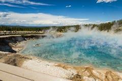 Cuisson à la vapeur de la piscine Photo libre de droits