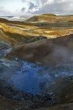 Cuisson à la vapeur du site géothermique de Seltun, l'Islande Photographie stock