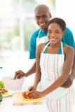 Cuisson africaine de couples Images libres de droits