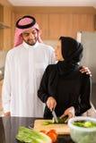 Cuisson Arabe de couples Images libres de droits