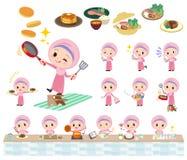 Cuisson arabe de fille illustration stock