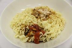 Cuisson asiatique indonésienne d'aliments de préparation rapide de nouille instantanée Photographie stock libre de droits