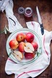Cuisson avec Bartlett Pears rouge Photos libres de droits