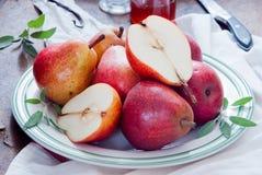 Cuisson avec Bartlett Pears rouge Photo libre de droits