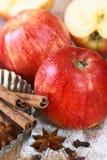 Cuisson avec des pommes Photo libre de droits