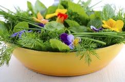 Cuisson avec le concept d'herbes Image libre de droits
