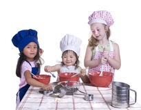 cuisson d'enfants Photographie stock