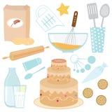 Cuisson d'un gâteau Photos stock