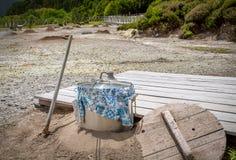 Cuisson dans un courant ascendant Hot Springs de Vulcano Geo photos libres de droits