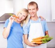Cuisson de couples Image stock