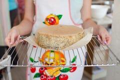Cuisson de l'atelier de gâteau Photographie stock