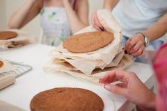 Cuisson de l'atelier de gâteau Photo stock