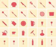 Cuisson de l'ensemble d'icône Photos stock